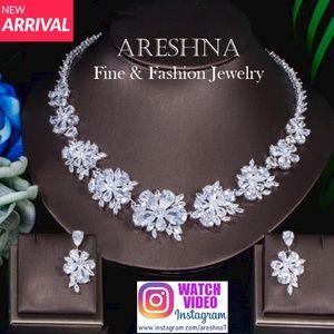 Luxury Swarovski Crystals Floral Necklace